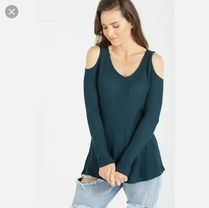 NWT Cotton on Velvet Green long sleeve thermal L